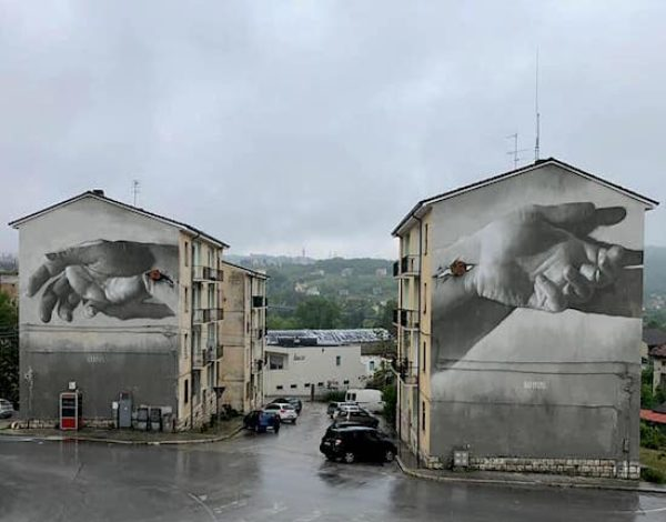 Street artists at work in Campobasso